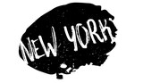 New York rubber stamp. Grunge design with dust scratches. Effects can be easily removed for a clean, crisp look. Color is easily changed. - 172023133