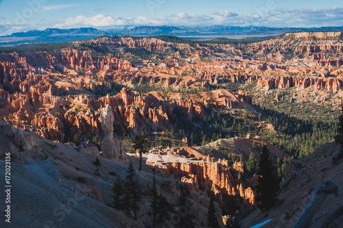 Foto op Canvas Nachtblauw Bryce Canyon National Park, Utah, Hoodoos, Spires Pinnacles, Red Rock