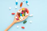 Medicine, tablet, vitamin and drug in various shape - 172026162