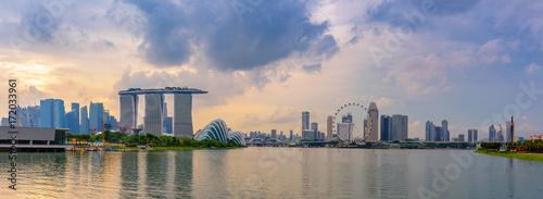 Panorama of Singapore city, Cityscape at daylight