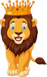 Cartoon lion wearing a crown