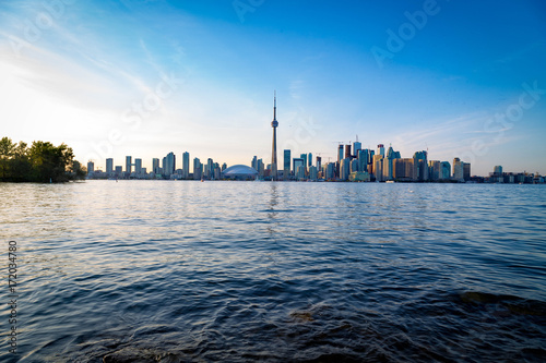 Toronto downtown skyline with sunset Poster