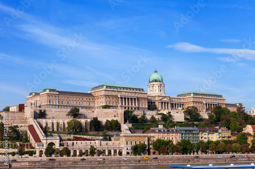 Buda Palace on a beautiful summer's day - Budapest, Hungary. Poster