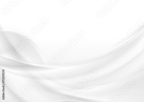Abstract grey white smooth waves