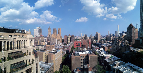 View to New York from a rooftop Poster