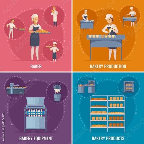 Bakery Cartoon Design Concept