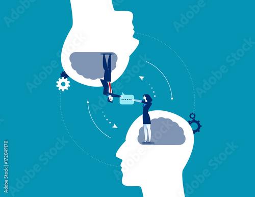 Business communication. Concept business vector illustration.