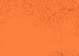 Orange comic book page abstract polka dot background
