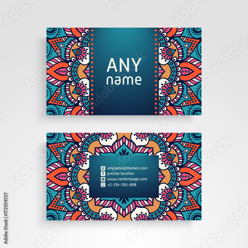 Business card vintage decorative elements ornamental floral business card vintage decorative elements ornamental floral business cards or invitation with mandala reheart Gallery