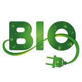 Bio symbol with electrical plug - 172054790