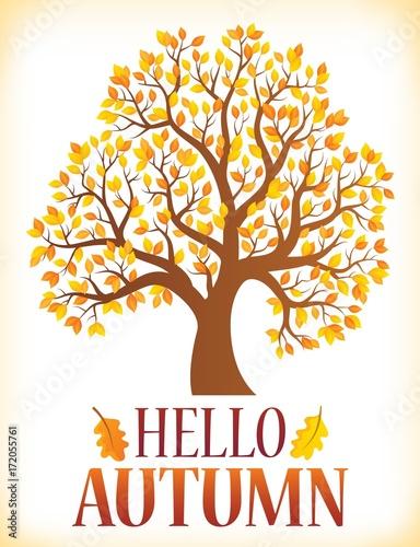 Deurstickers Voor kinderen Hello autumn theme image 3