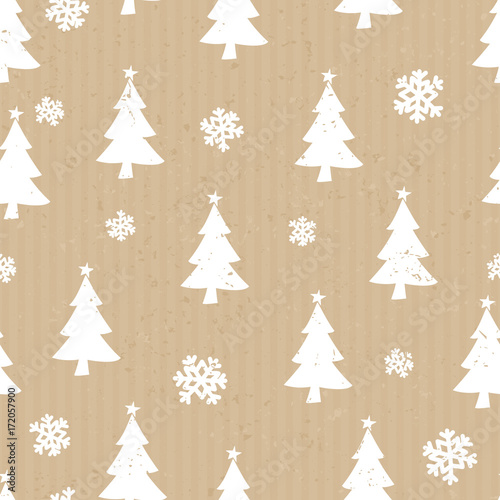 obraz PCV Craft Paper Christmas Pattern