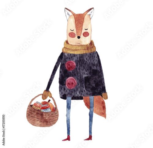 Cute fox  - 172058110