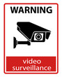 CCTV Camera. Black Video surveillance sign.vector isolated