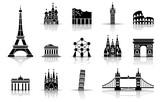 Wahrzeichen von Europa - Iconset (Schwarz)