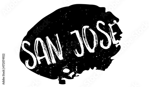 San Jose rubber stamp. Grunge design with dust scratches. Effects can be easily removed for a clean, crisp look. Color is easily changed.