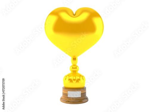 Foto op Canvas UFO Heart trophy