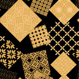 Abstract geometric pattern. A seamless background, dark texture