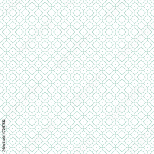 Abstract geometric pattern. A seamless background, blue texture - 172087922