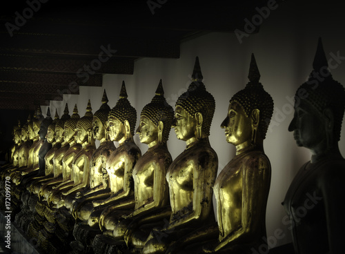 Foto op Canvas Boeddha Wat Pho in Bangkok Temple of Reclining Buddha
