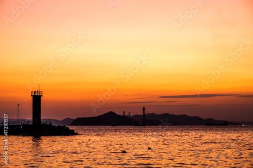 Foto op Plexiglas Zee zonsondergang Sunset