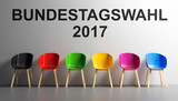 Stühle Parteien Bundestagswahl 2017 - 172106798