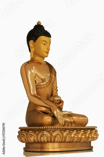 Foto op Canvas Boeddha Beautiful Gold Buddha Gautama statue