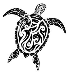 Maori style turtle tattoo