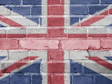 Great Britain Politics Concept: UK Flag Wall Background Texture - 172111572