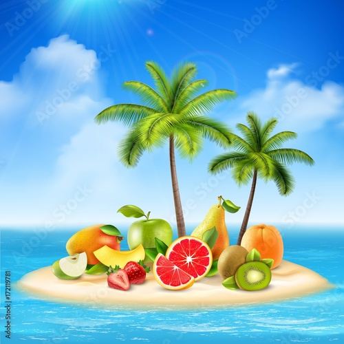 Fruity Island Background Concept  - 172119781