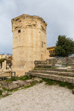 Tower of winds in the Roman Agora, ancient Athens, Greece - 172128377