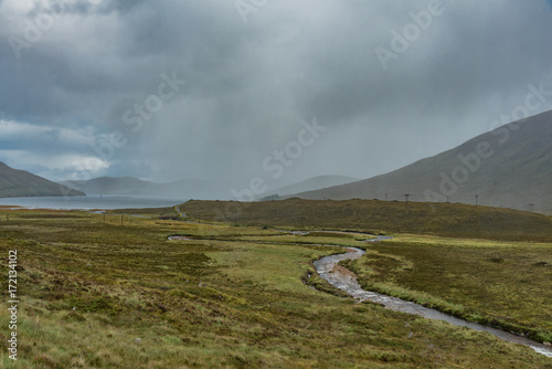 Keuken foto achterwand Donkergrijs scenery of Scotland's Highland Scotland island