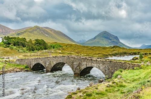 Fototapeta scenery of Scotland's Highland Scotland island