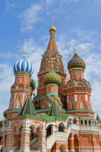 Fotobehang Moskou Beautiful view of St. Basil's Cathedral on Red square, Moscow, Russia.