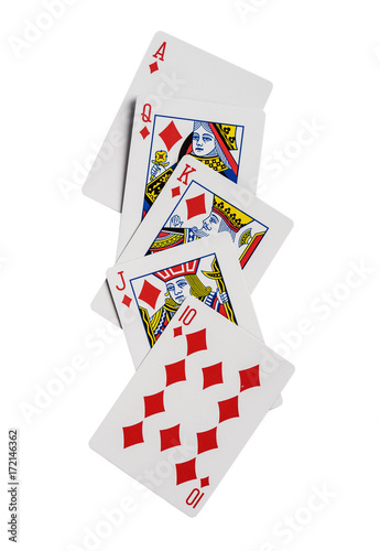 Playing cards flush isolated Poster