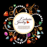 Vector poster of jewelry fashion accessories