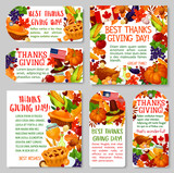 Thanksgiving Day holiday tag and label set design - 172156177