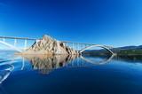 Bridge to the island of KRK. KRK is a Croatian island in the northern Adriatic Sea.