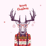 nerd christmas deer - 172177147