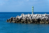 breakwater in the port of Funchal, Madeira island