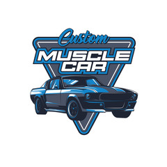 Muscle car vector illustration