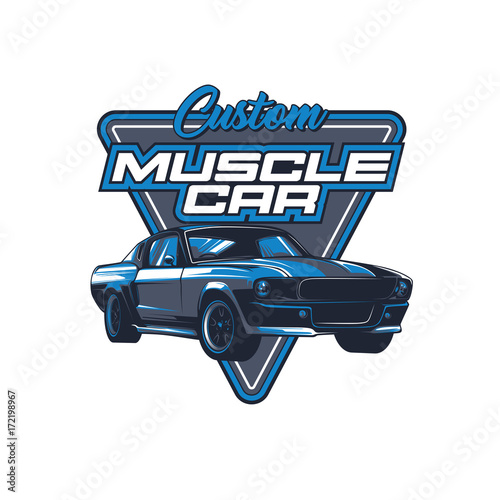 Aluminium Vintage Poster Muscle car vector illustration