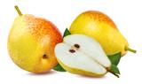 Fresh pear isolated on white background - 172206350