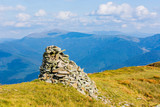 pile of stones on top of mountain