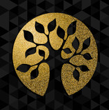 Gold glitter tree of life concept symbol art - 172213310