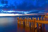 crepuscolo sul lago di garda