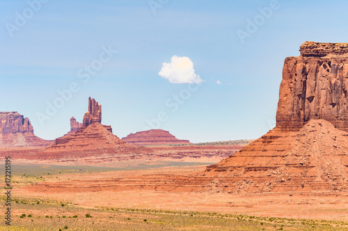 Fotobehang Koraal buttes landscape at monument valley