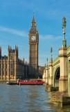 The Big Ben and Westminster bridge , England, UK.
