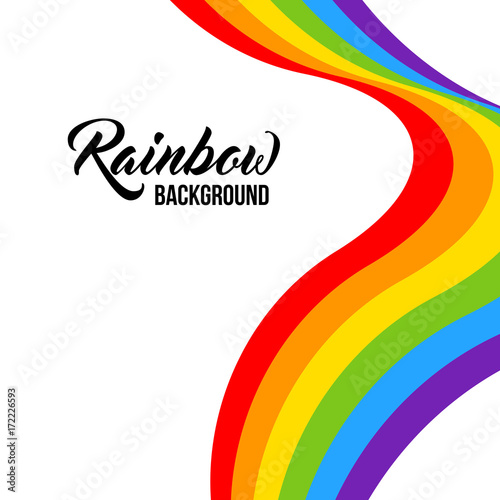 Rainbow background LGBT colors. Abstract geometric pattern. Vector illustration. Wavy LGBT flag.