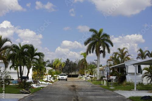 Fotobehang Napels Natural Disaster Hurricane Irma aftermath Naples FL trailer home park damage